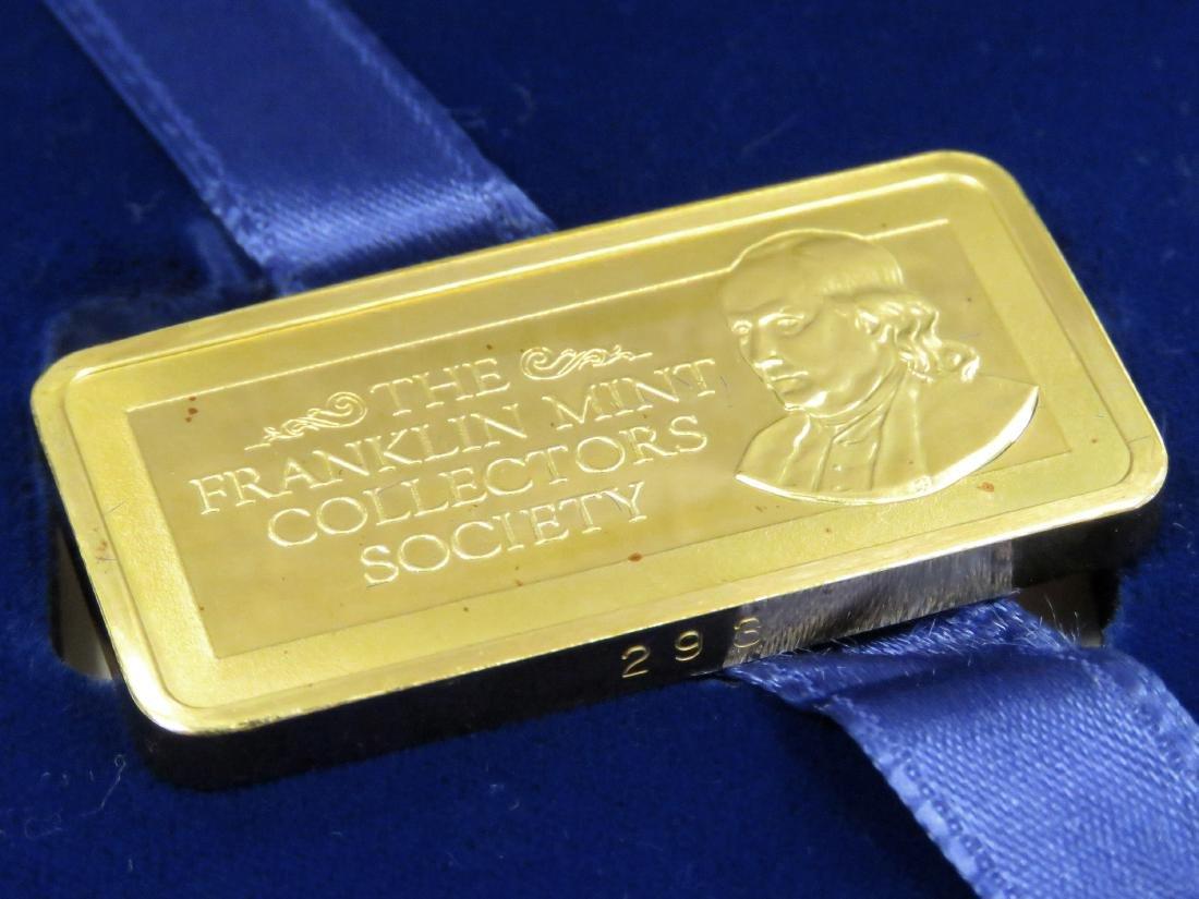 FRANKLIN MINT 1000 GRAIN GOLD INGOT (64.79 GRAMS)