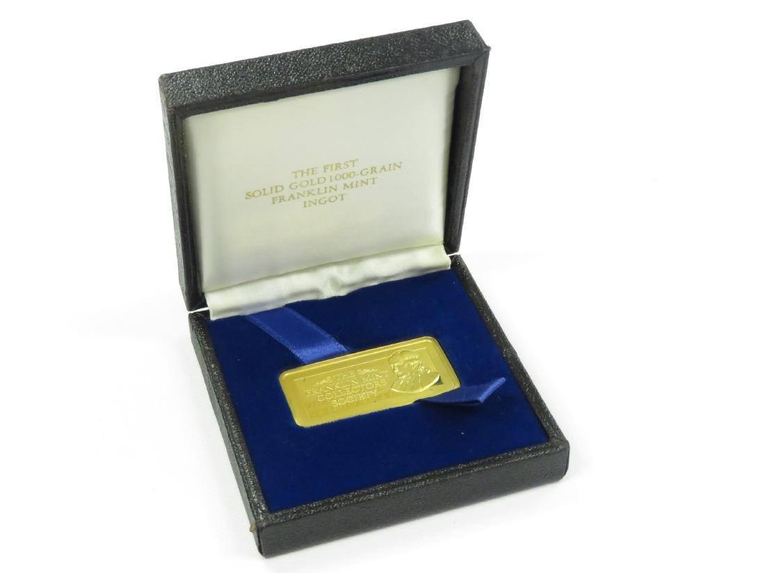 FRANKLIN MINT 1000 GRAIN GOLD INGOT (64.79 GRAMS) - 4