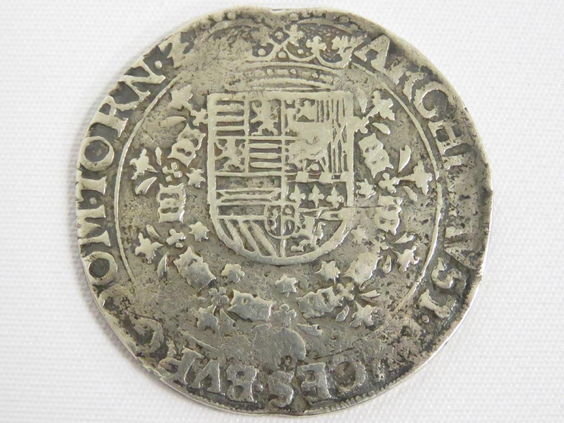 SPANISH SILVER REALE COIN, 18TH CENTURY (PIRATE COB)