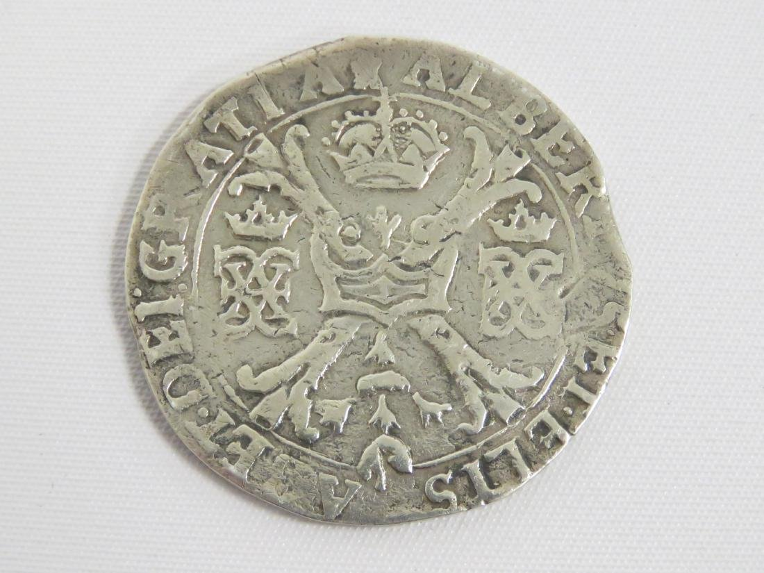 SPANISH SILVER REALE COIN, 18TH CENTURY (PIRATE COB) - 2