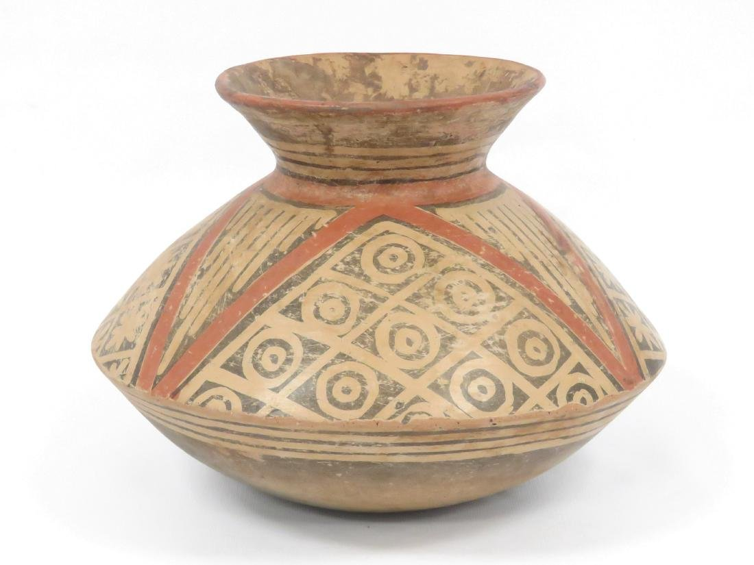 """PRE-COLUMBIAN DECORATED POTTERY VESSEL. HEIGHT 9"""" - 2"""