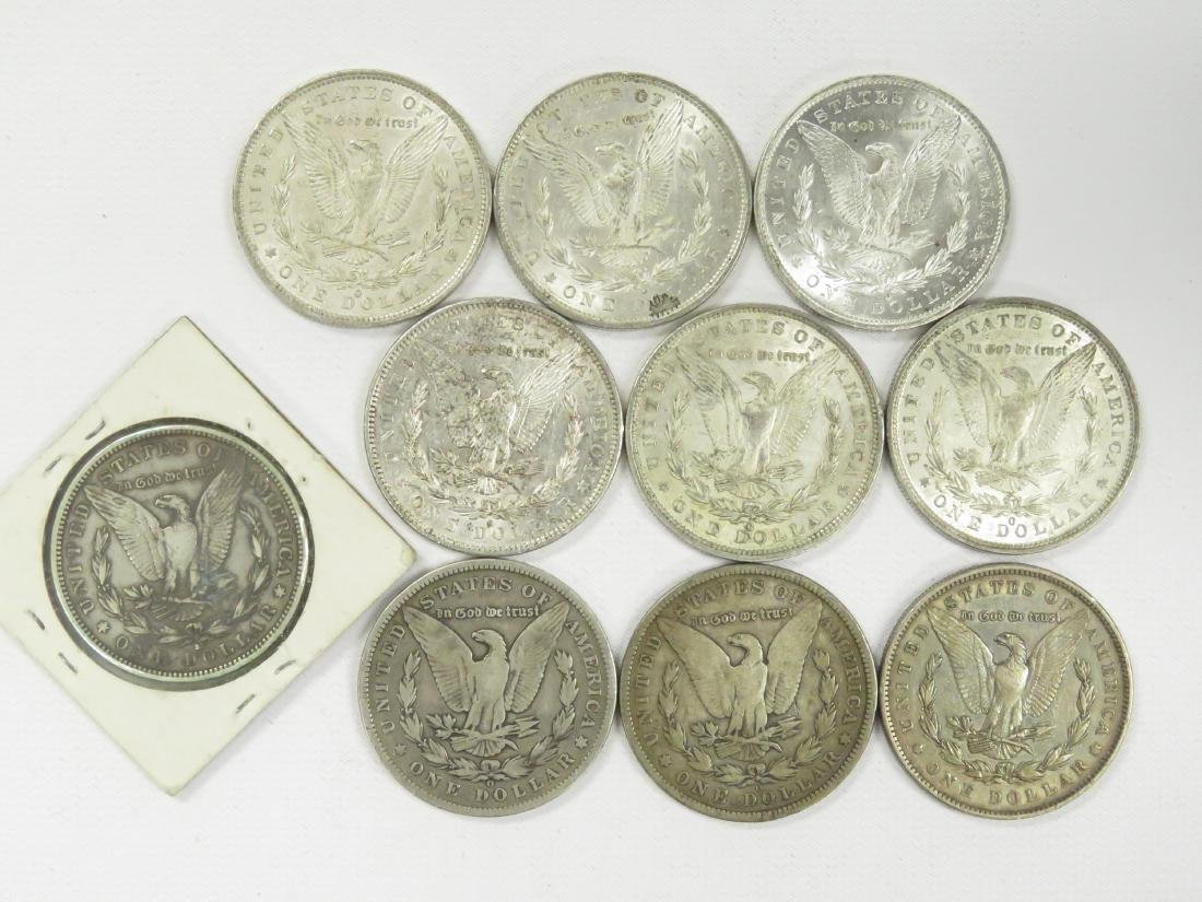 LOT (10) ASSORTED MORGAN SILVER DOLLAR COINS - 2
