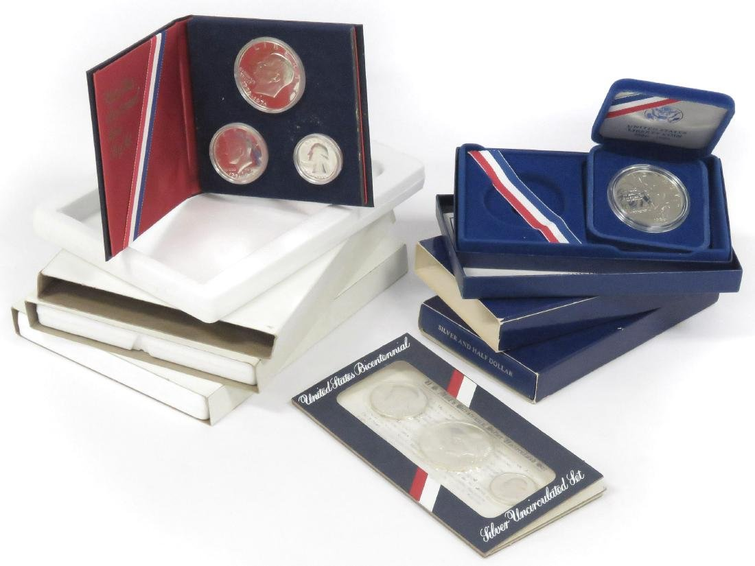LOT (6) INCLUDING (4) 1976 BI-CENTENNIAL SILVER