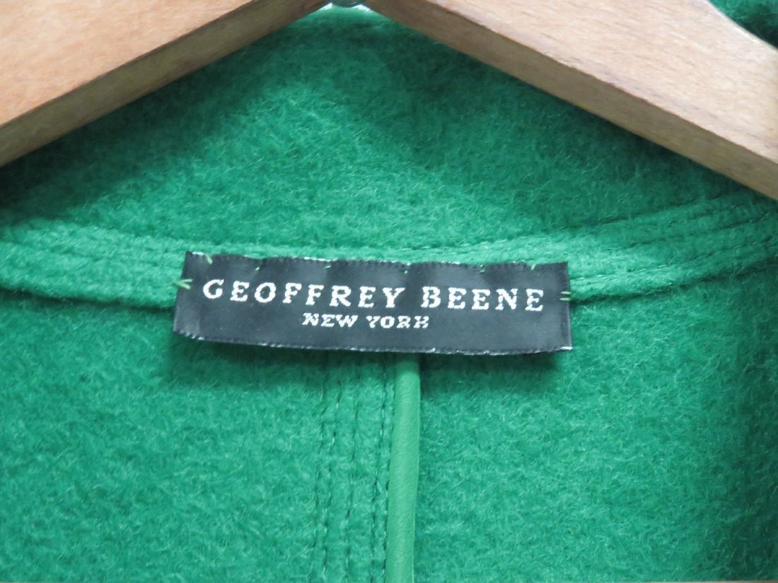 GEOFFREY BEANE/NEW YORK GREEN WOOL COAT. SIZE 8 - 2
