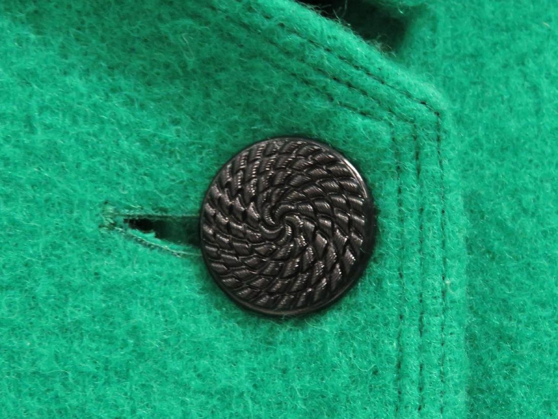GEOFFREY BEANE/NEW YORK GREEN WOOL COAT. SIZE 8 - 3