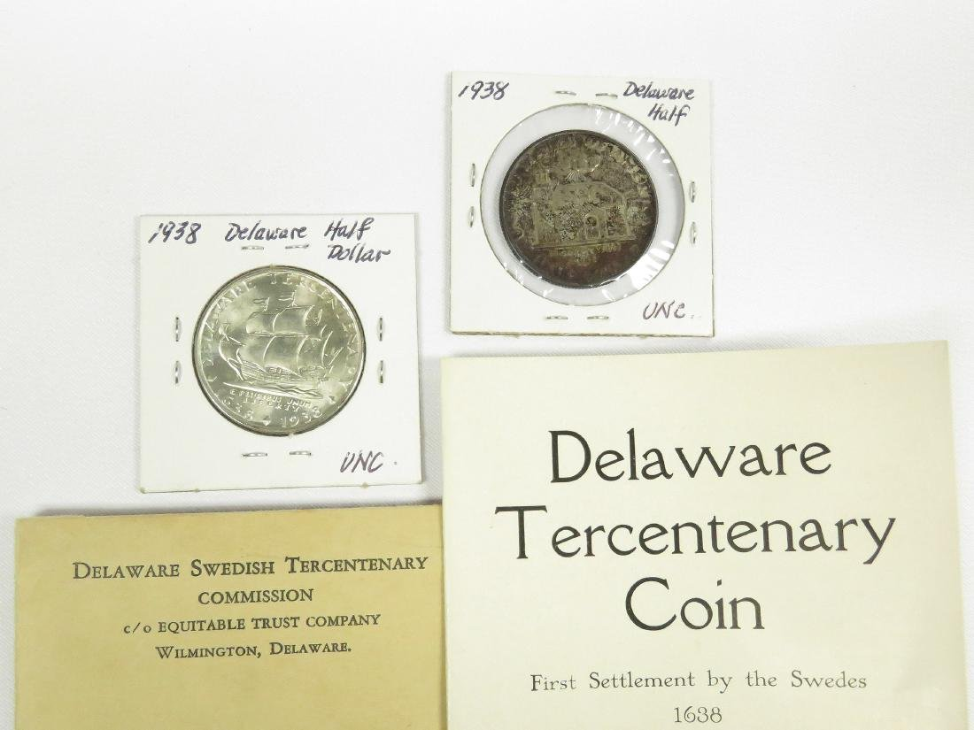 LOT INCLUDING (2) 1938 DELAWARE TERCENTENARY