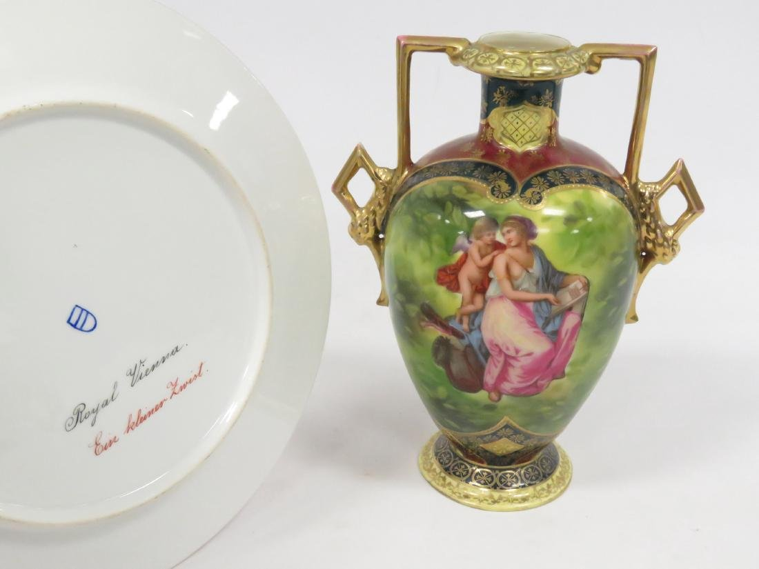 LOT (2) ROYAL VIENNA DECORATED PORCELAIN INCLUDING - 2