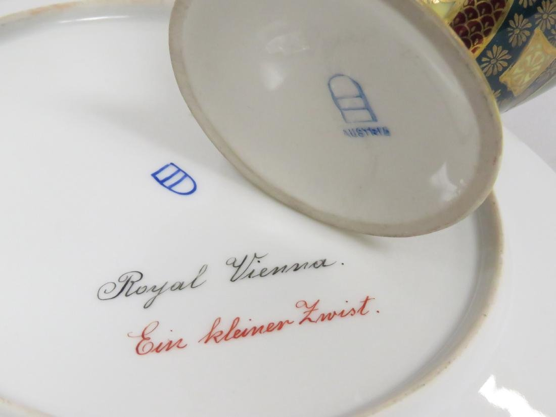 LOT (2) ROYAL VIENNA DECORATED PORCELAIN INCLUDING - 3