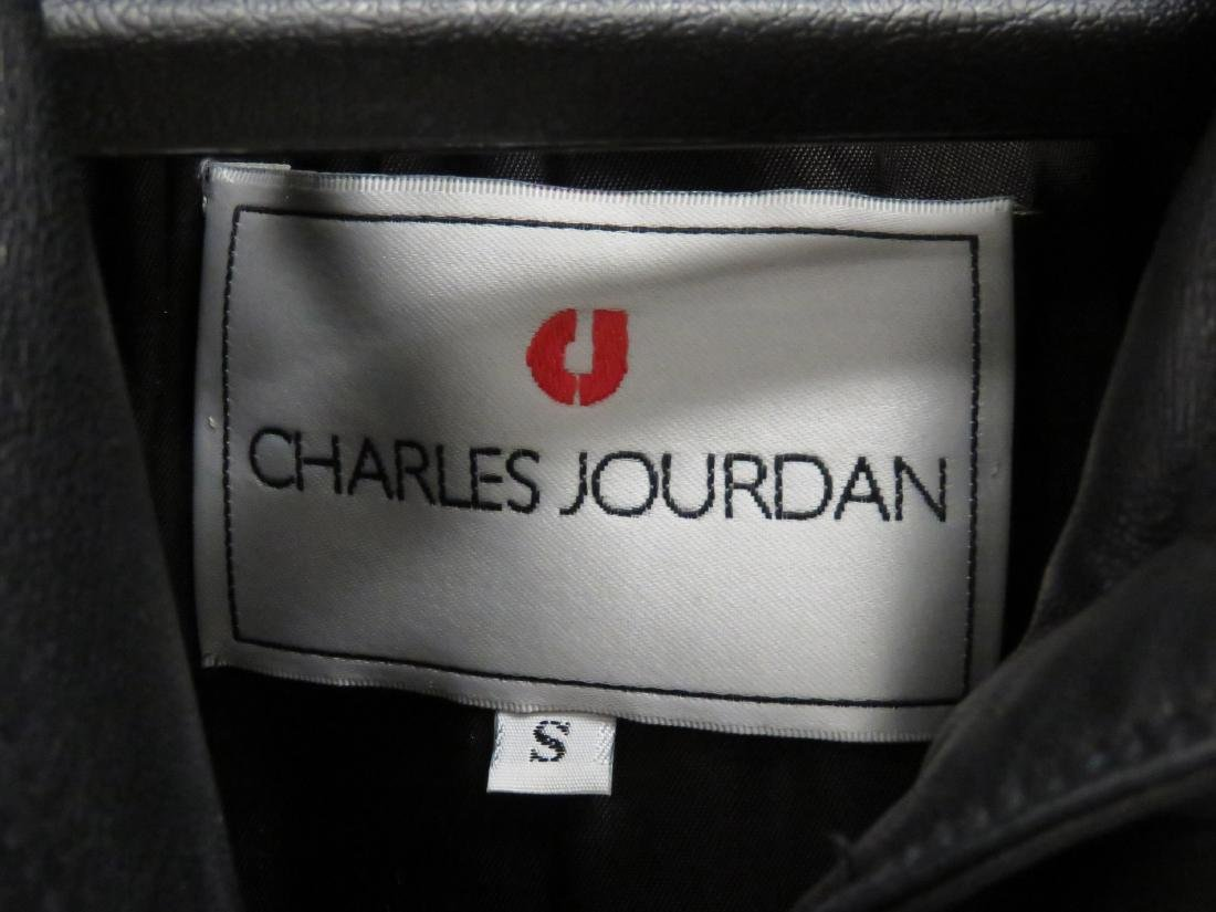 CHARLES JOURDAN LEATHER FULL LENGTH COAT. SIZE SMALL - 4