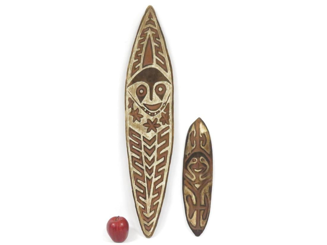 LOT (2) NEW GUINEA, CARVED AND PAINTED ANCESTOR