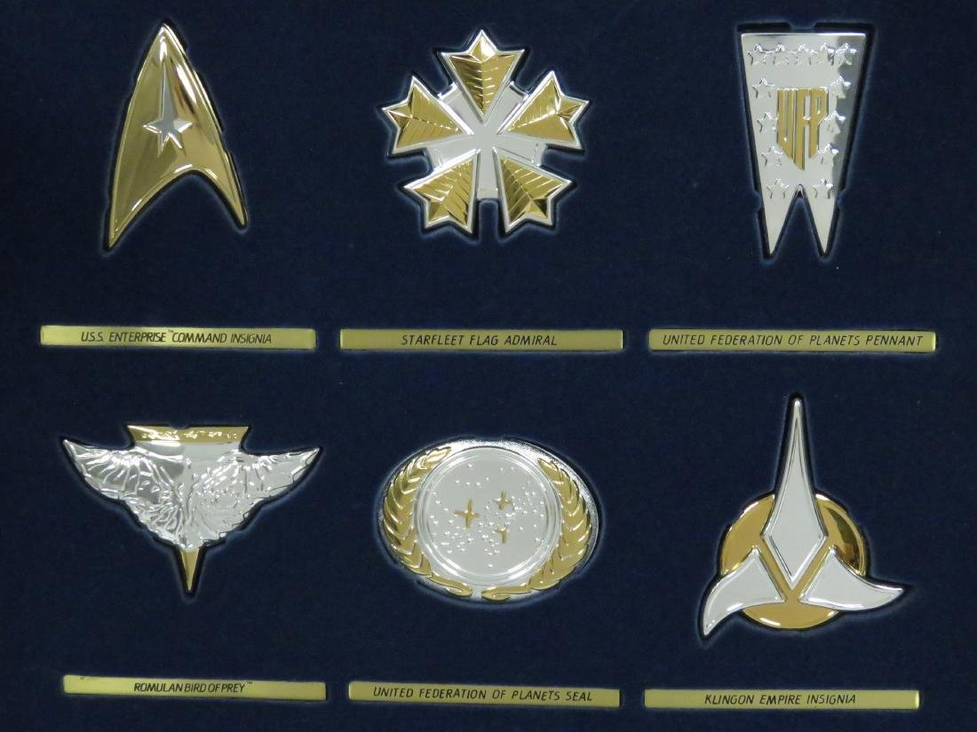 SET (12) STAR TREK STERLING SILVER INSIGNIA BADGES WITH - 2