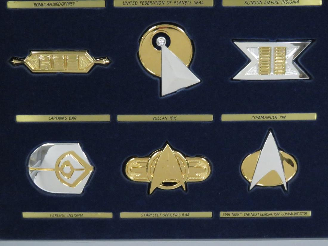 SET (12) STAR TREK STERLING SILVER INSIGNIA BADGES WITH - 3