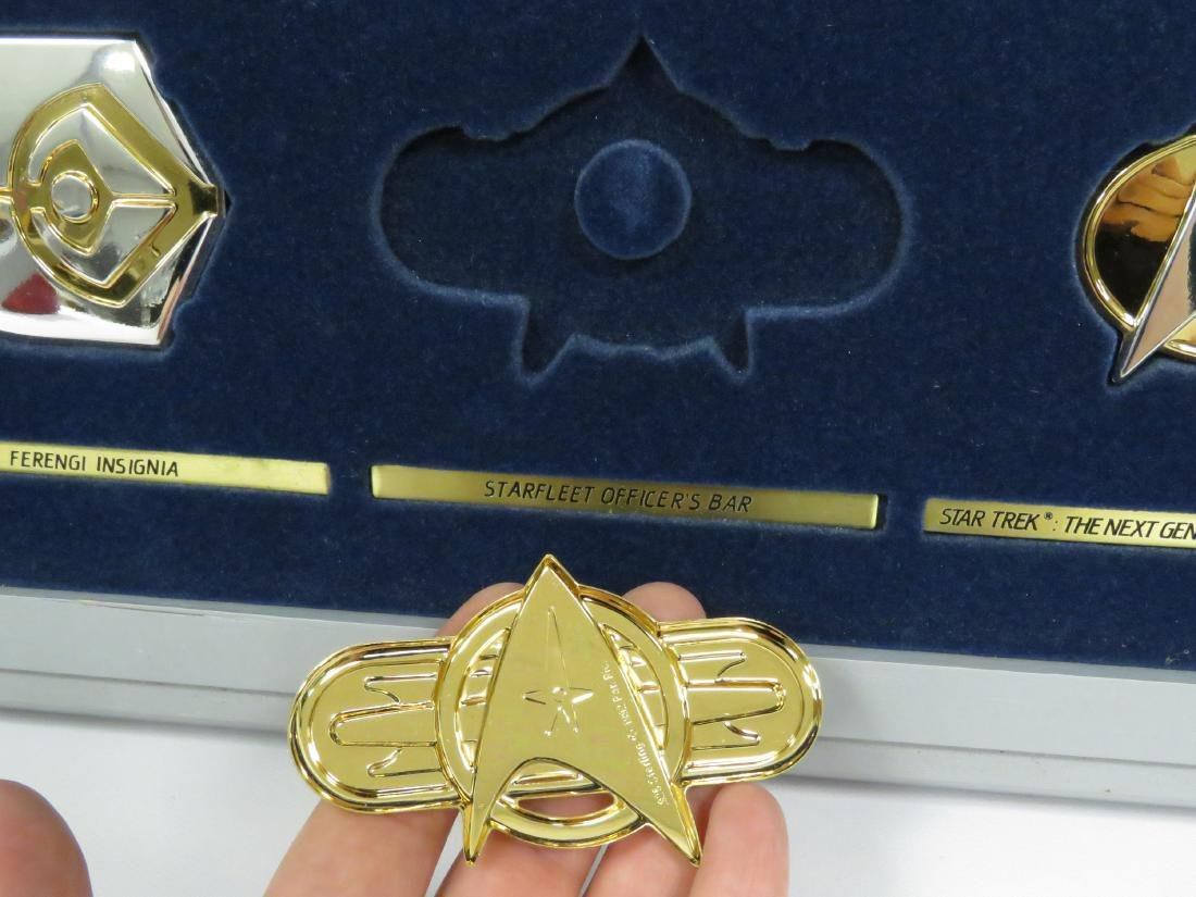 SET (12) STAR TREK STERLING SILVER INSIGNIA BADGES WITH - 4