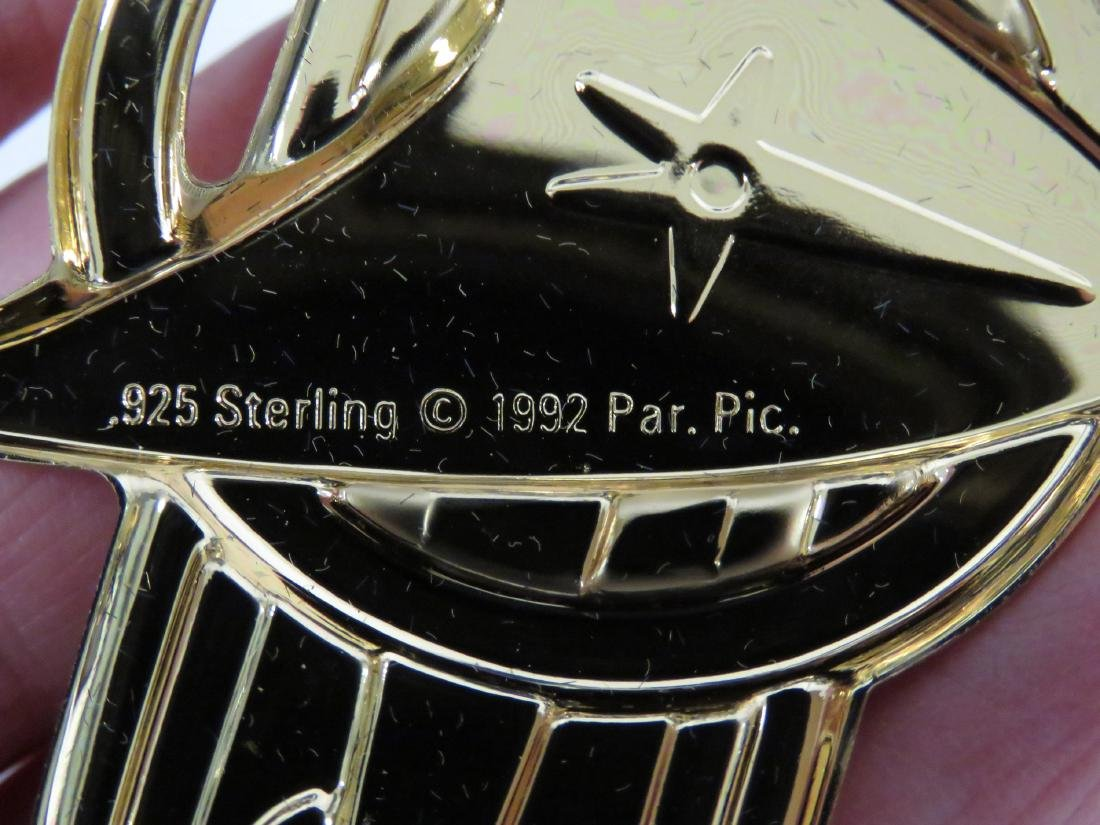 SET (12) STAR TREK STERLING SILVER INSIGNIA BADGES WITH - 5