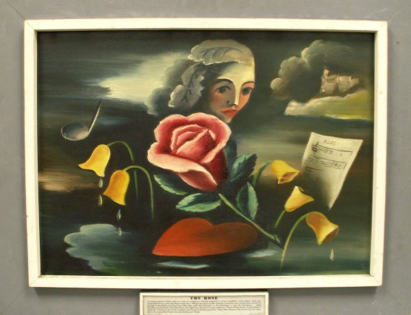 "1015: PAINTING, ""THE ROSE"", SIGNED LAX '40"