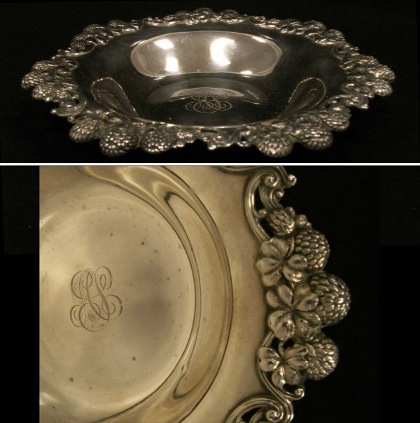 "1021: TIFFANY & CO. MAKERS STERLING ""CLOVER"" DISH"