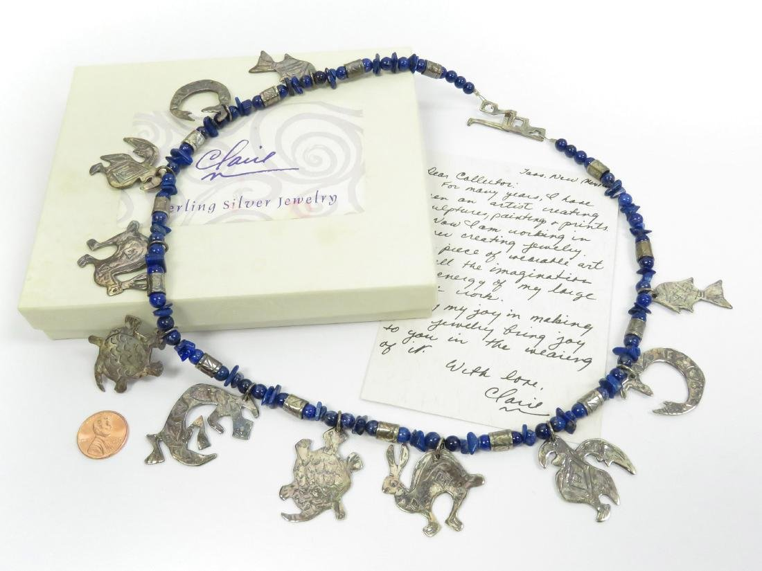 ORIGINAL CLARIE L. HAYE, CLAIRE WORKS JEWELRY, LAPIS