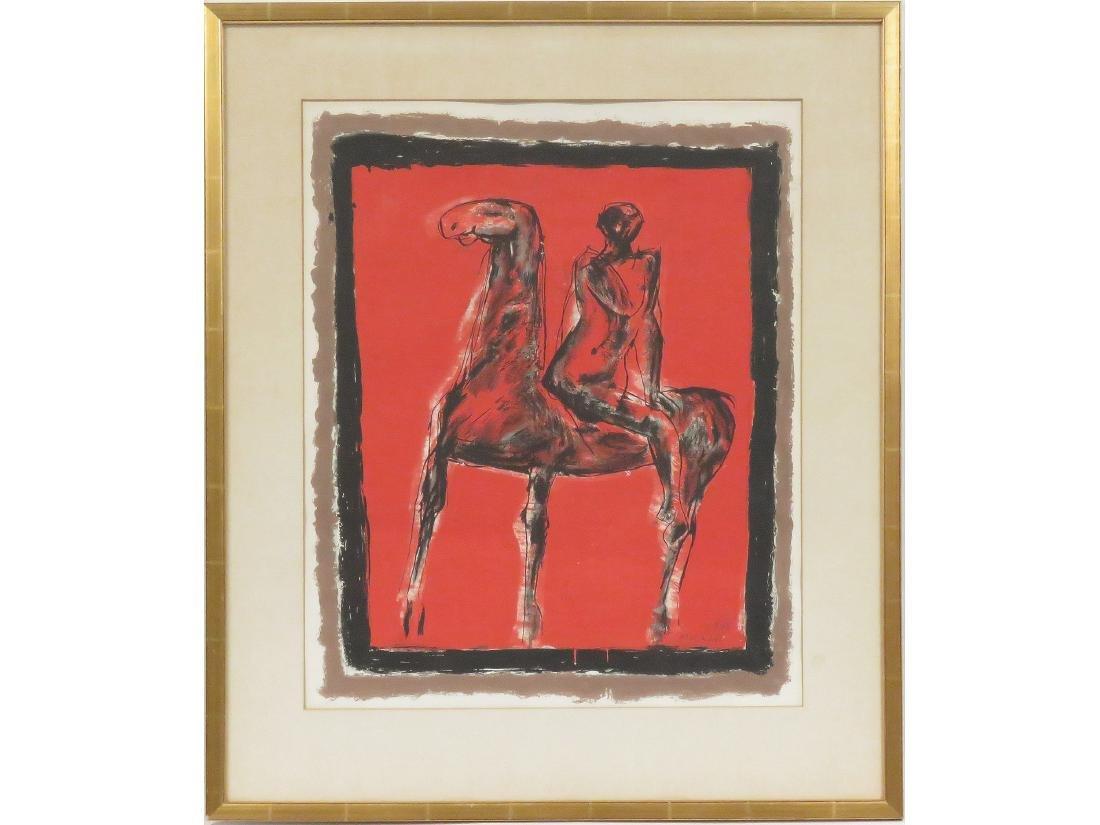 """MARINO MARINI (ITALIAN 1901-1980), LITHOGRAPH, """"LE"""