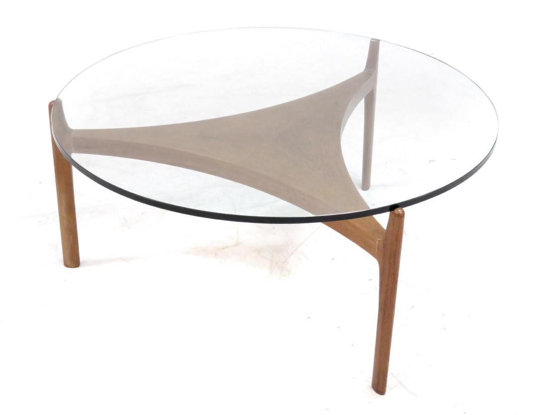 MID-CENTURY SCANDINAVIAN DESIGN TEAK AND PLATE-GLASS - 3