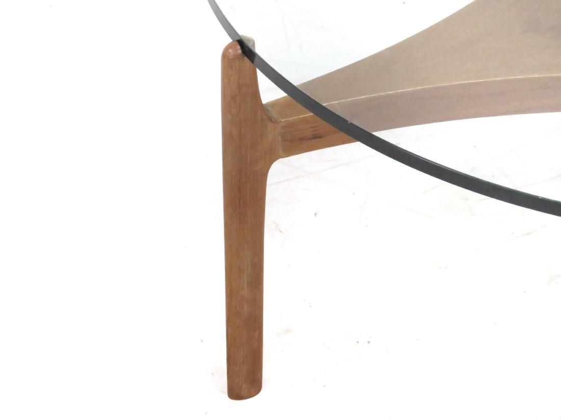 MID-CENTURY SCANDINAVIAN DESIGN TEAK AND PLATE-GLASS - 4