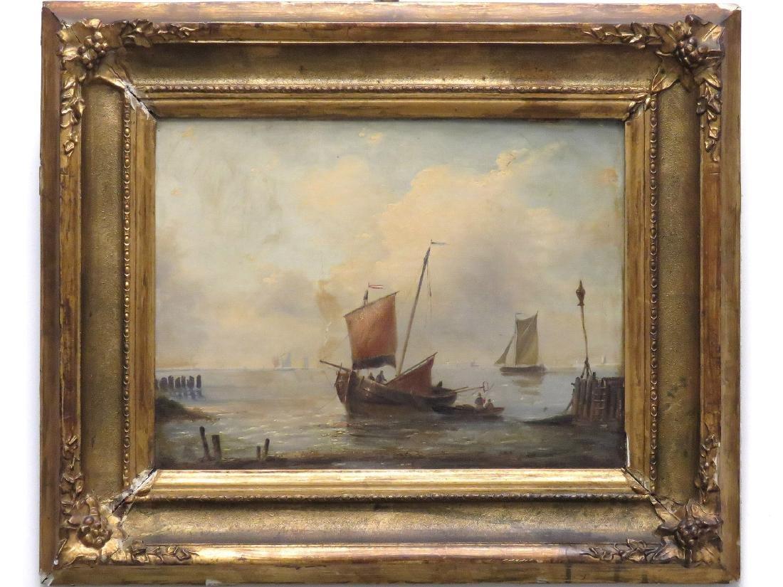 DUTCH SCHOOL (19TH CENTURY), OIL ON CANVAS, FISHING