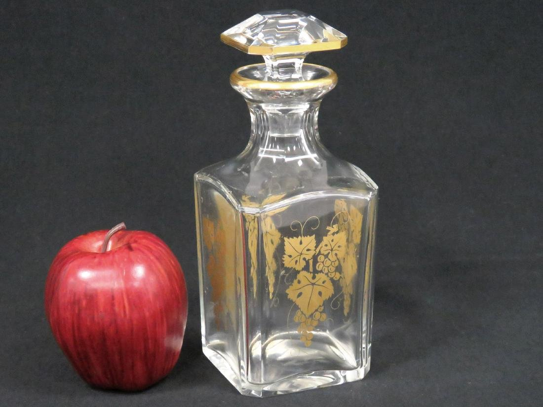 VINTAGE BACCARAT GILT DECORATED CRYSTAL DECANTER,