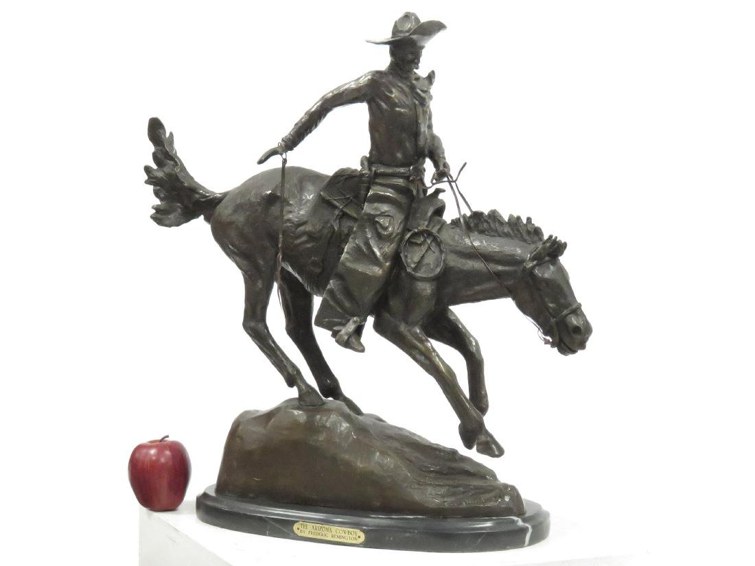 "AFTER FREDERICK REMINGTON), BRONZE, ""THE ARIZONA"