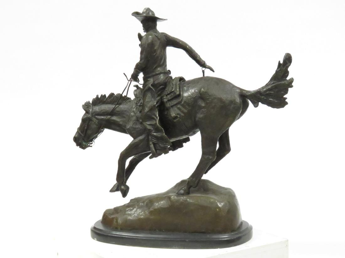 "AFTER FREDERICK REMINGTON), BRONZE, ""THE ARIZONA - 5"
