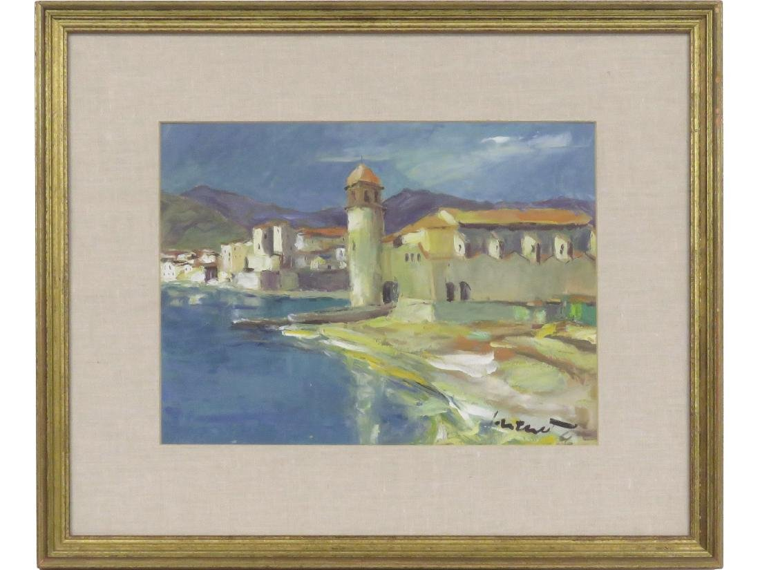 CONTINENTAL SCHOOL (20TH CENTURY), OIL ON CARD STOCK,