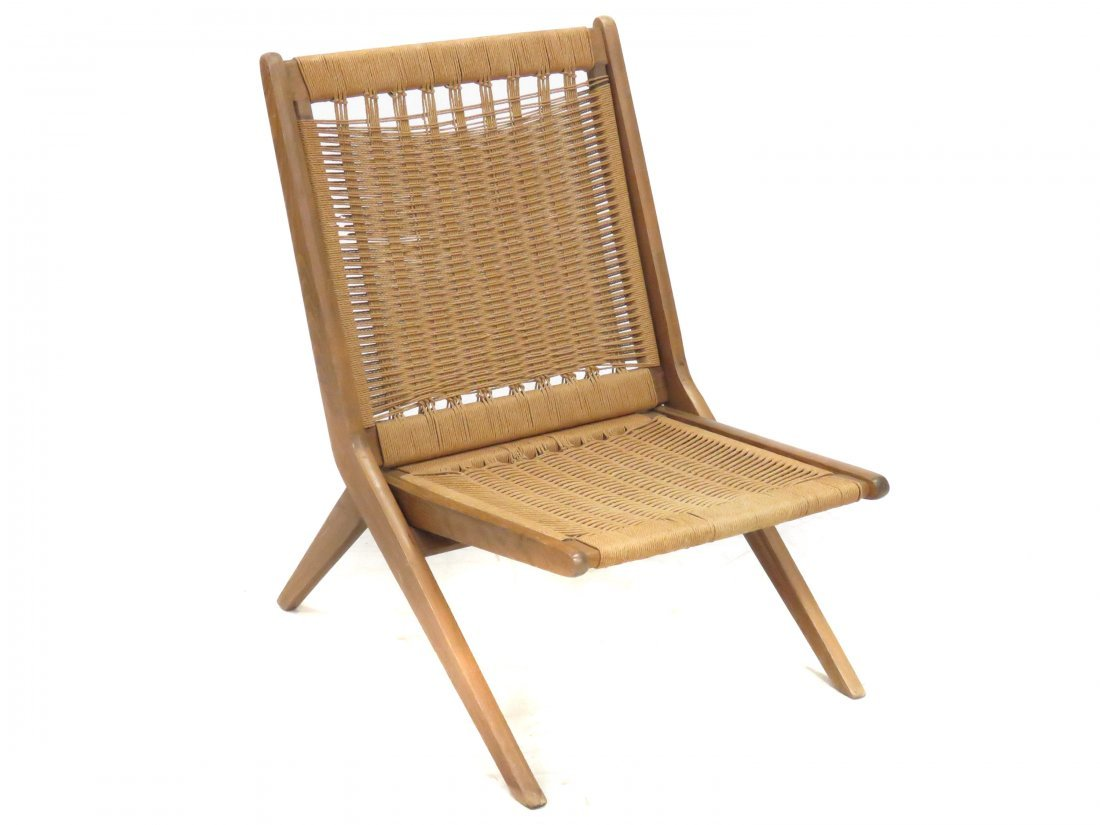DANISH MODERN (WEGNER STYLE) FOLDING ROPE CHAIR