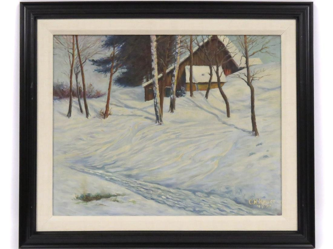 CHARLES H. HAUSER (AMERICAN 20TH CENTURY), OIL ON