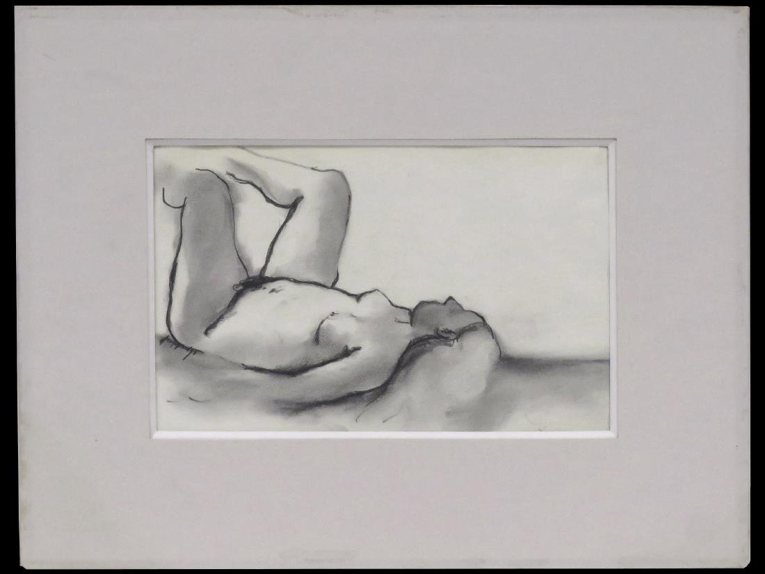 ARTHUR L. COPPEDGE (AMERICAN 1938-2010), CHARCOAL,