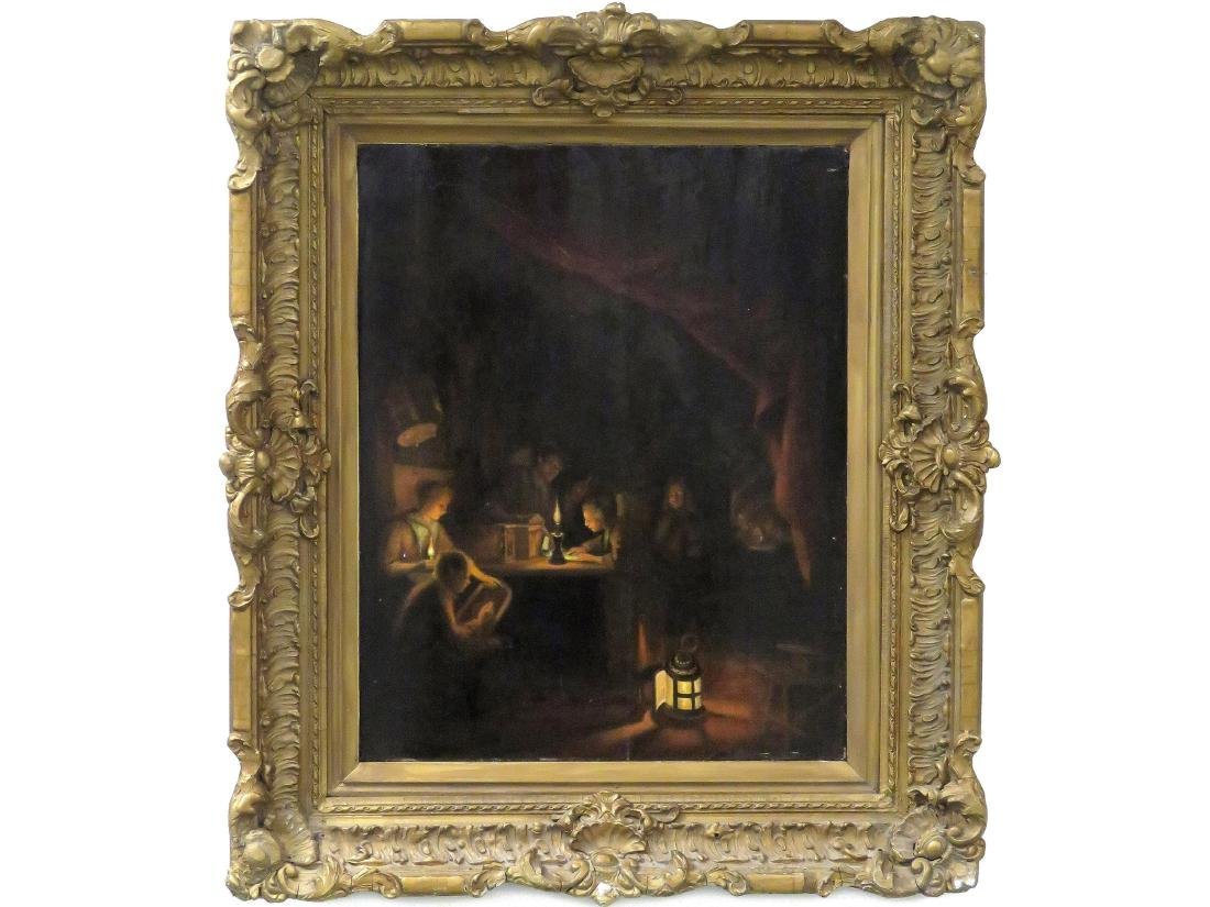 FLEMISH SCHOOL (18/19TH CENTURY), OIL ON PANEL, CANDLE