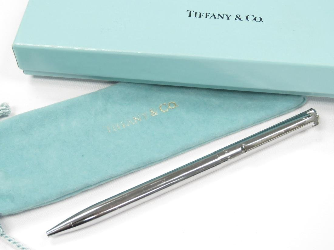 TIFFANY & CO. STERLING T-CLIP BALL POINT PEN (WITH