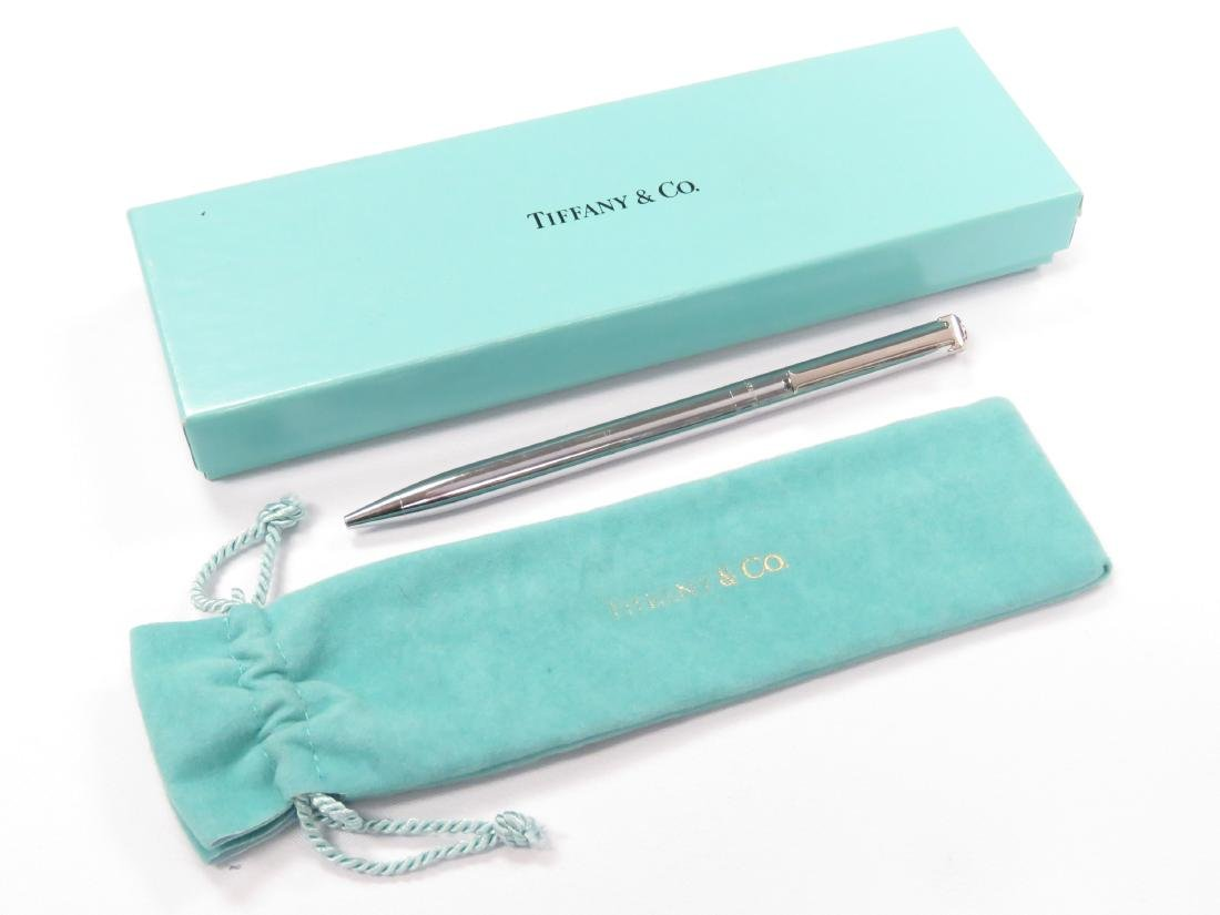 TIFFANY & CO. STERLING T-CLIP BALL POINT PEN (WITH - 2