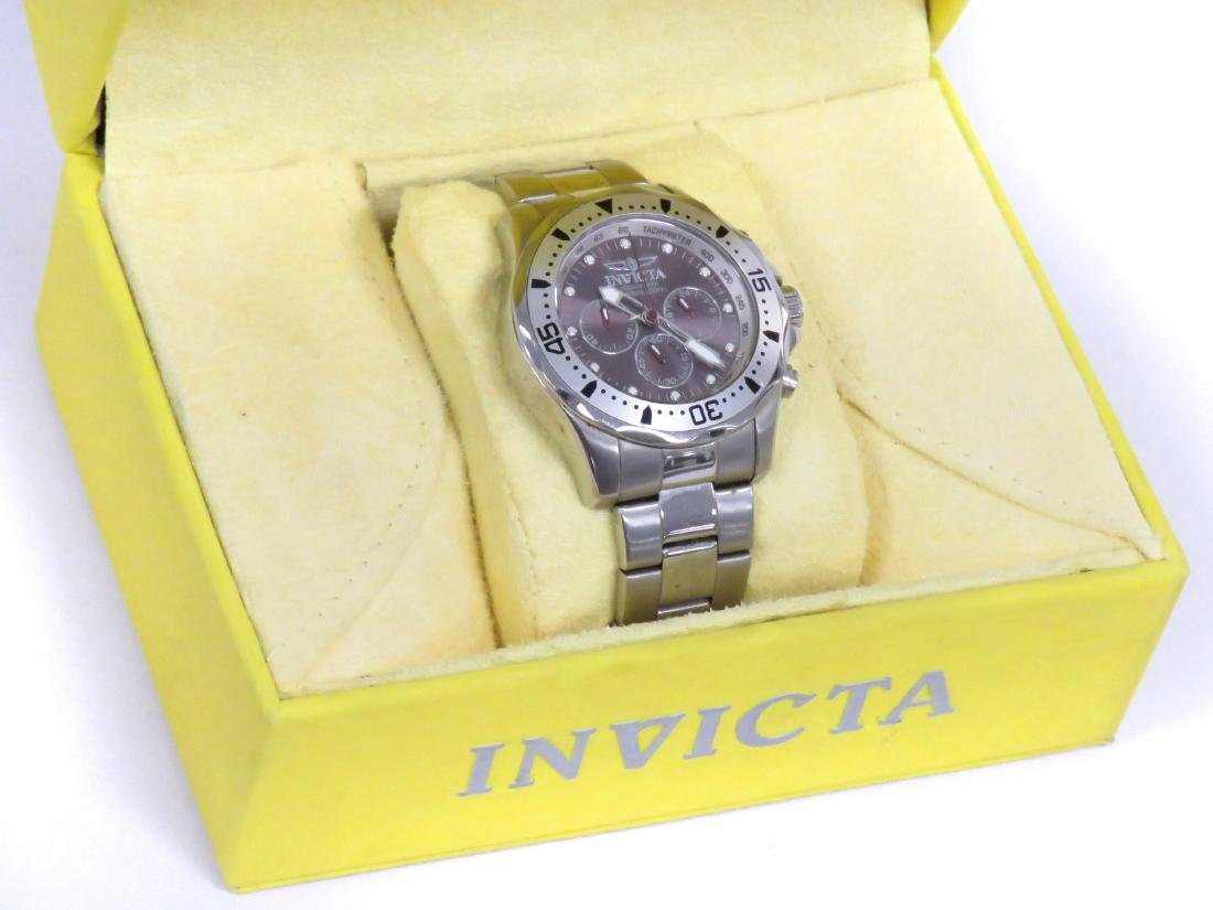 INVICTA STAINLESS AUTOMATIC CHRONOGRAPH WRISTWATCH WITH