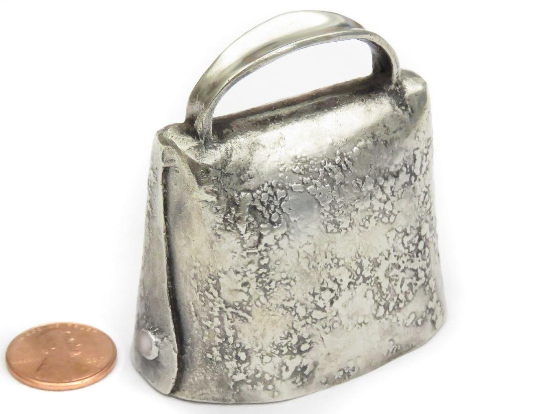 """LONDON STERLING BELL, C.1901-2. HEIGHT 2 1/2""""; 2.98 OZT"""