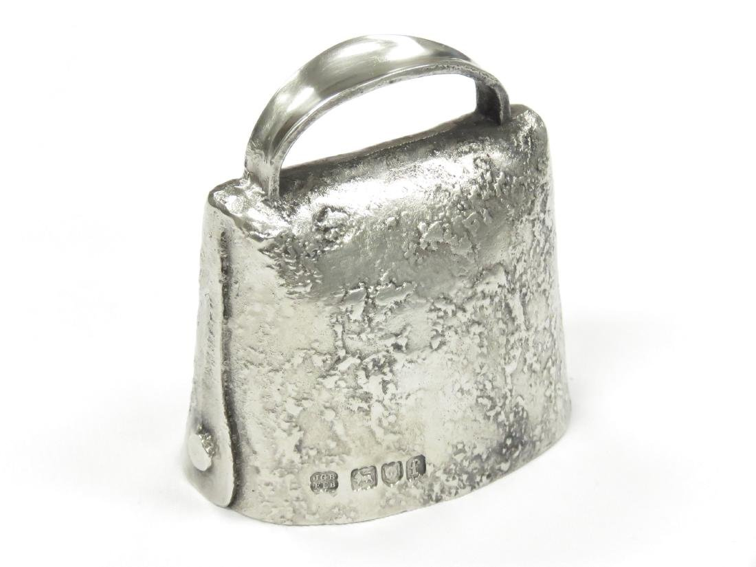 "LONDON STERLING BELL, C.1901-2. HEIGHT 2 1/2""; 2.98 OZT - 2"