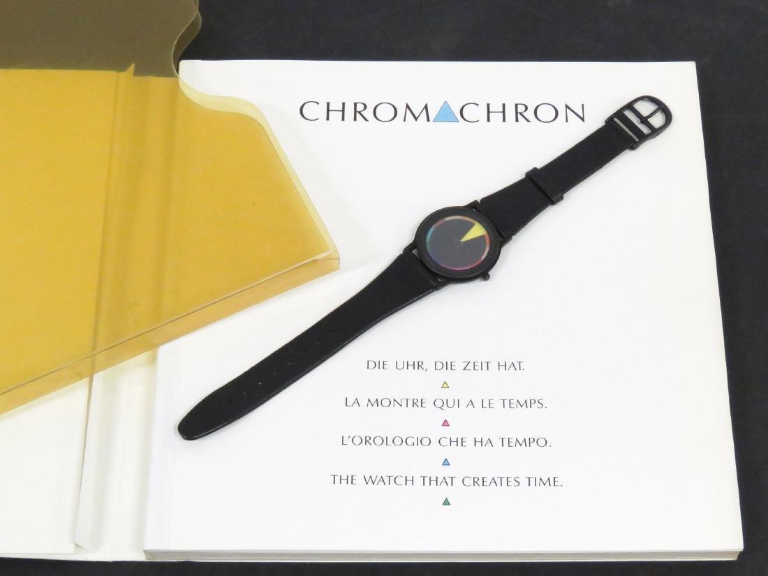 TIAN HARLAN CHROMACHRON COLOR-TIME QUARTZ WRISTWATCH,