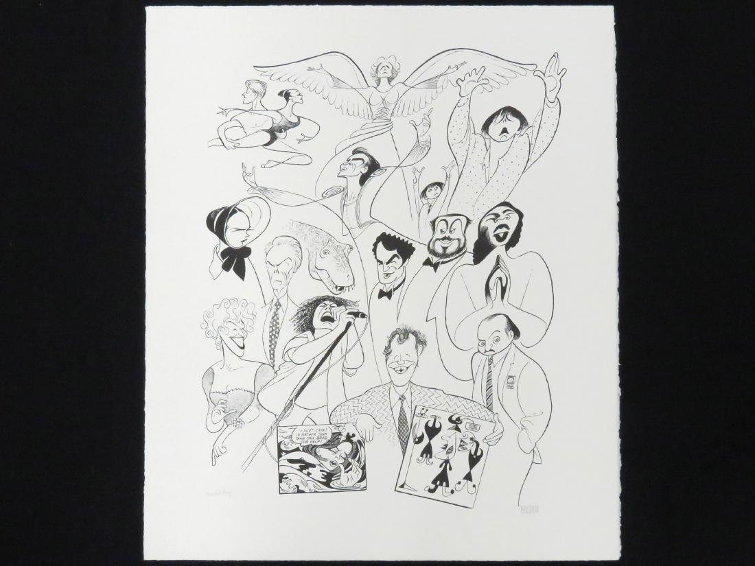AL HIRSCHFELD (AMERICAN 1903-2006), LITHOGRAPH, 1993