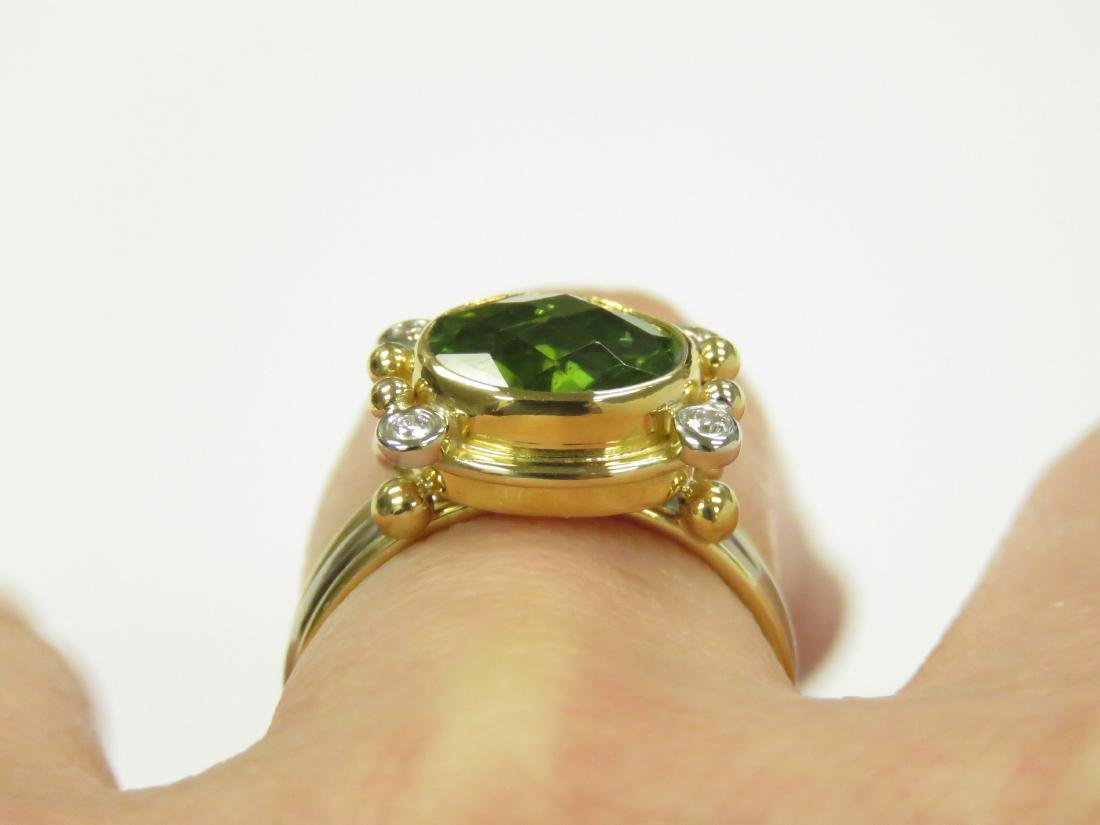 18K/22K YELLOW AND WHITE GOLD, 3.0-3.5CT PERIDOT AND - 2