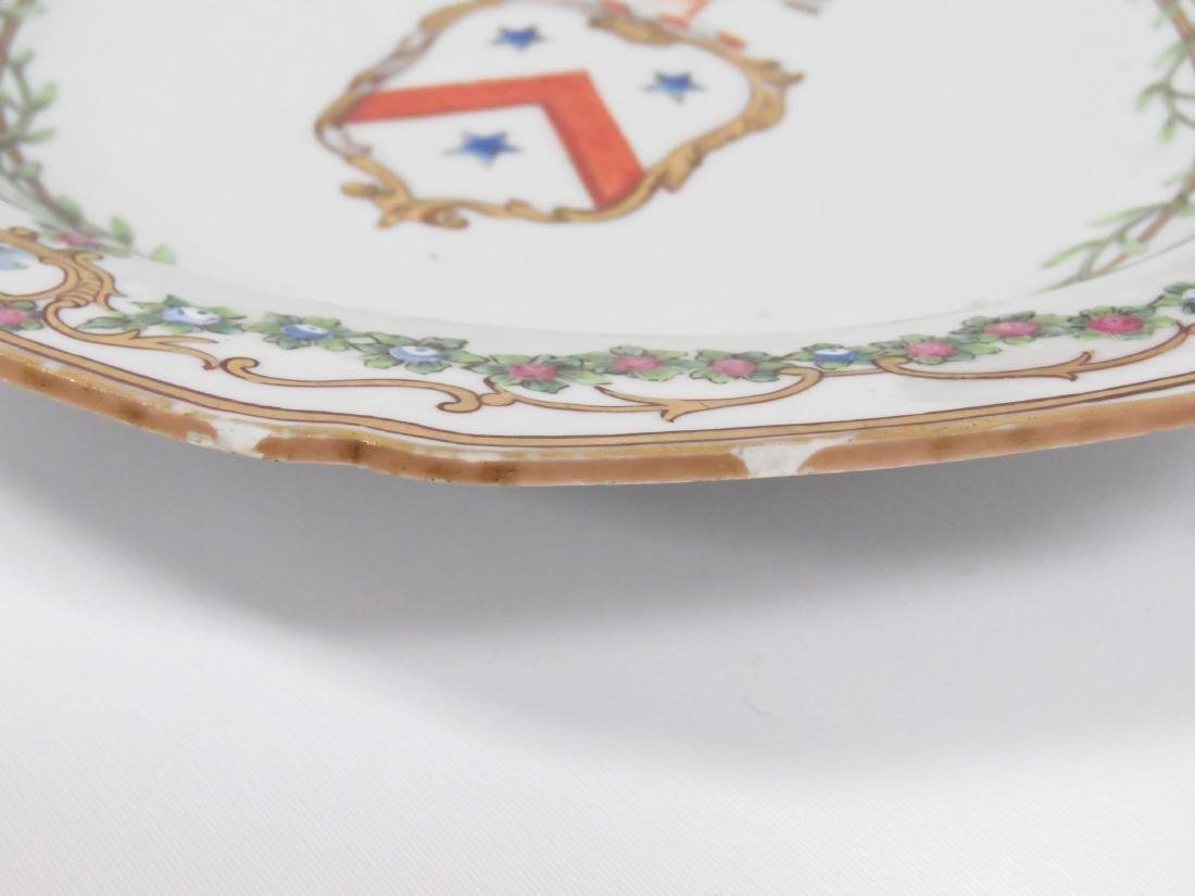 PAIR LOWESTOFF DECORATED PORCELAIN ARMORIAL BOWLS - 7