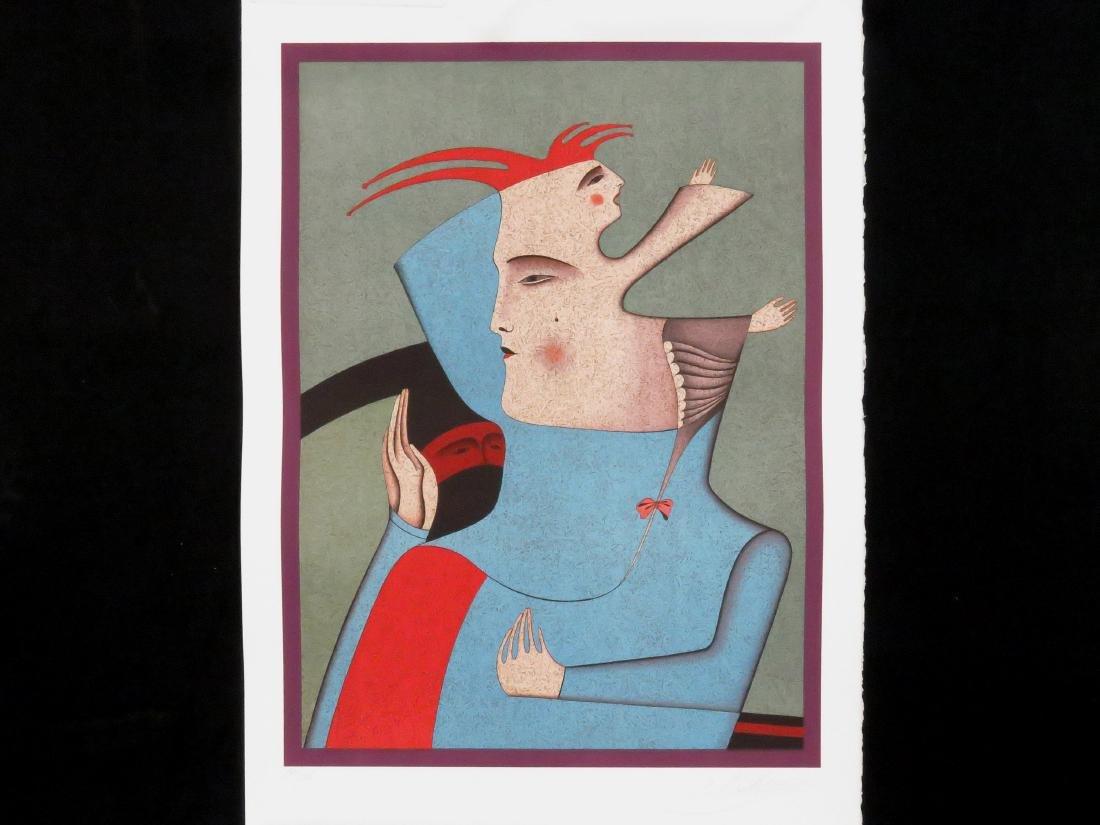 MIKHAIL CHEMIAKIN (RUSSIAN 1943-), COLORED LITHOGRAPH,
