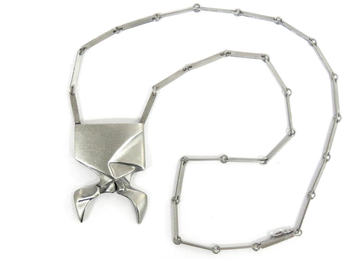 LAPPONIA/FINLAND STERLING MODERNIST NECKLACE, IN THE
