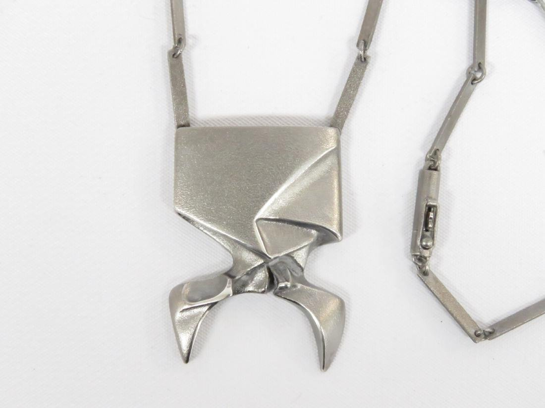 LAPPONIA/FINLAND STERLING MODERNIST NECKLACE, IN THE - 2