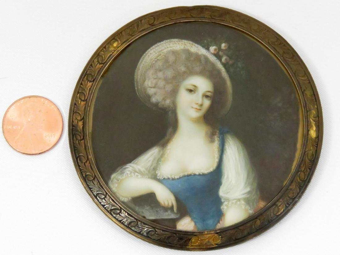 FRENCH SCHOOL (18TH CENTURY), MINIATURE PORTRAIT,