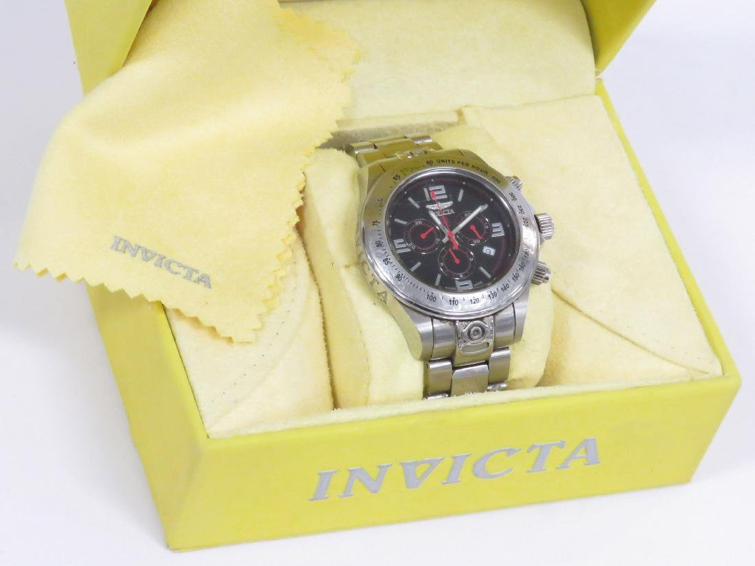 INVICTA MODEL 4222 STAINLESS QUARTZ GRAND SPEEDWAY