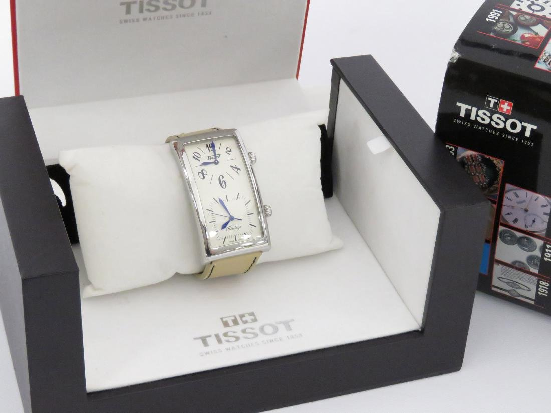 TISSOT HERITAGE STAINLESS QUARTZ DUAL TIME WRISTWATCH