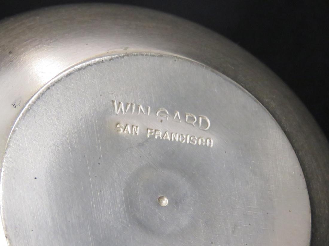 MID-CENTURY MODERN ALUMINUM VASE, SIGNED WINGARD, SAN - 2