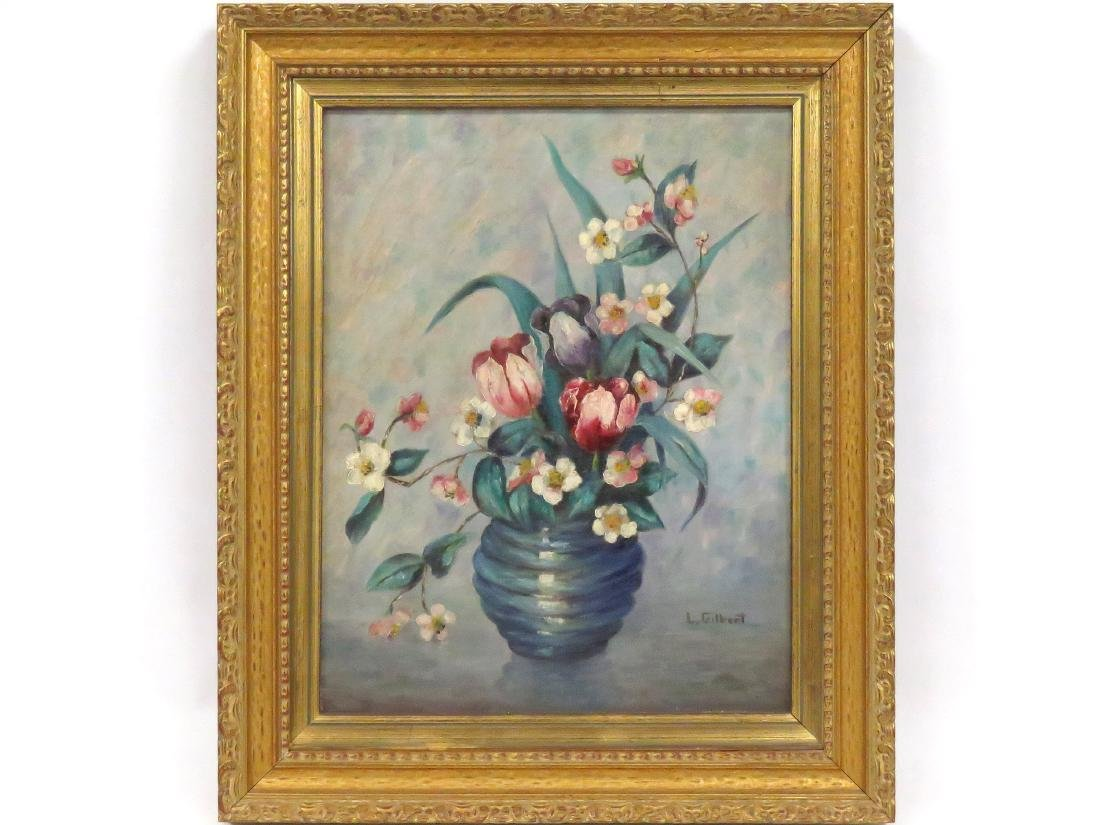 AMERICAN SCHOOL (20TH CENTURY), OIL ON CANVAS, TULIPS